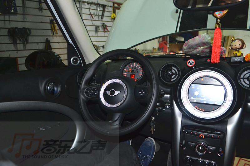 宝马迷你2014款汽车音响改装—德国海螺3系三分频喇叭