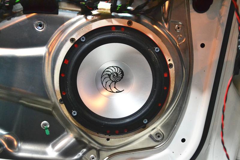 【汽车音响】奔驰c260无损升级德国海螺3.16套装二分频