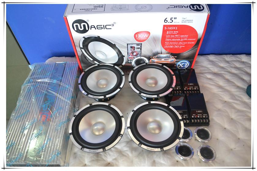 后备箱低音倒模+三分频喇叭/英菲尼迪q50l汽车音响改装