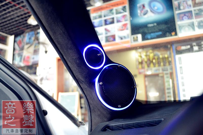 武汉奥迪q5汽车音响改装三分频倒模丨后备箱魔立方丨