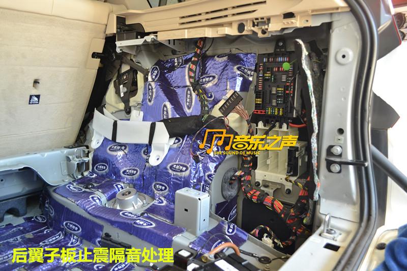 宝马x5音响改装/全车大能隔音/无损升级德国麦仕dsp功放宝马汽车音