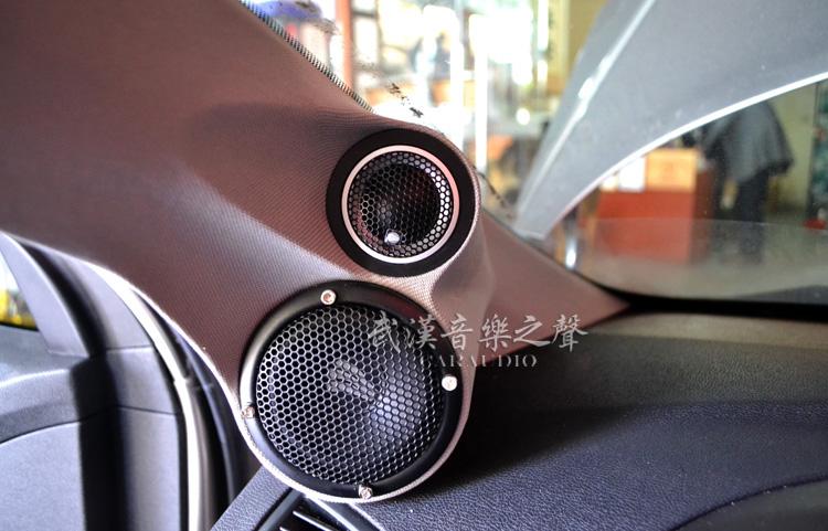 现代朗动汽车音响改装德国彩虹,效果太好车主不愿意下车